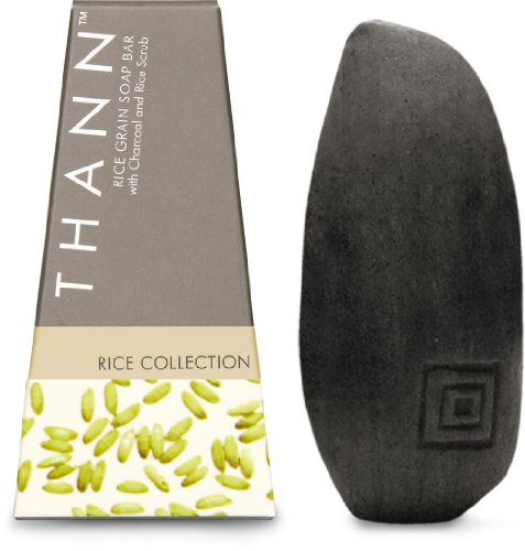Thann Rice Grain Soap Bar with Charcoal 100g