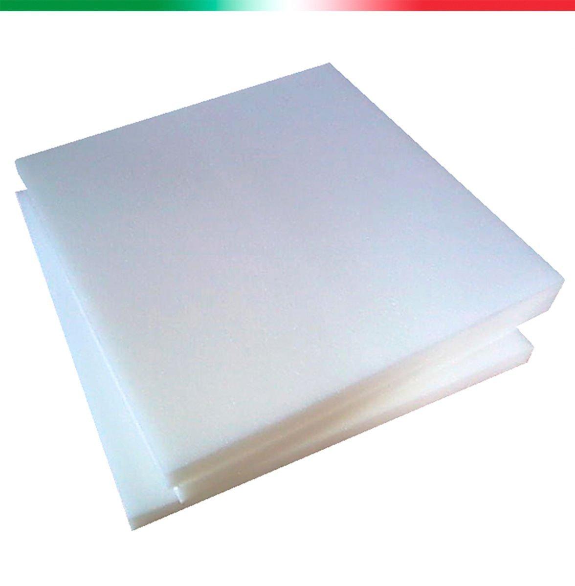 Viglietti - Lámina de gomaespuma/poliuretano expandido de dureza media, 100 x 200 cm, H 2 T21 Blanco: Amazon.es: Hogar