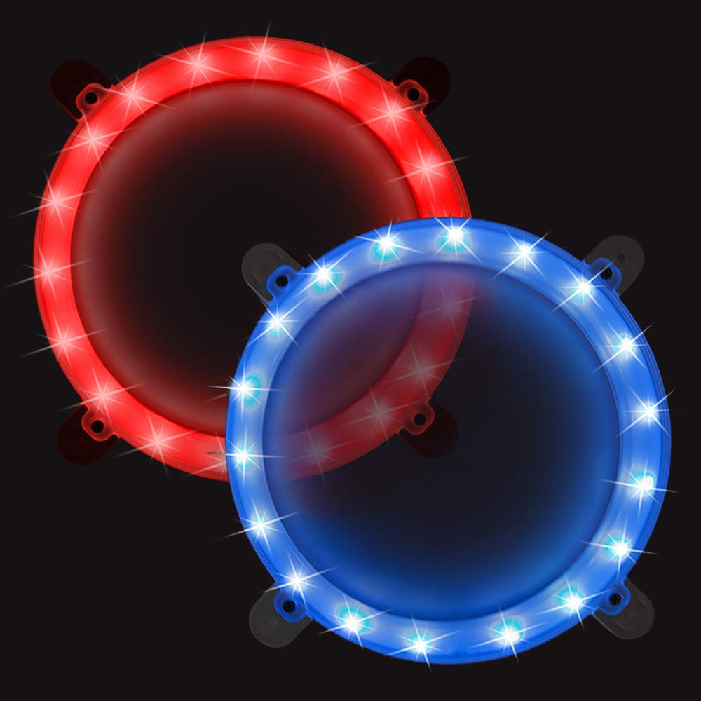 Cornhole Boards Ring Lights, One Set of Two Cornhole Lights, Waterproof LED Cornhole Ring Lights Kit for Cornhole Bags, Bean Bags, Tailgate Games,Yard Games (red-Blue) by Blinngo