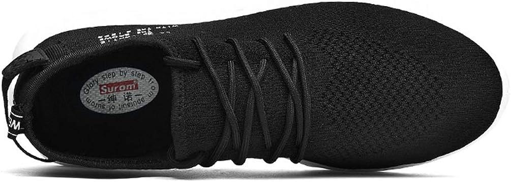 Qianliuk Men Sneakers Breathable Mesh Casual Comfortable Walking Shoes Black a