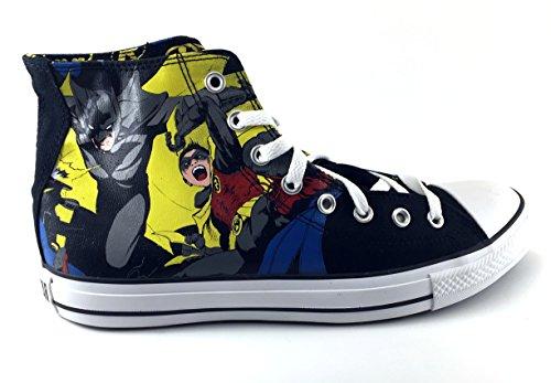 Converse Chuck Taylor Vintage Batman and Robin All Star Unisex DC Comic Shoes (Batman And Robin Shoes)