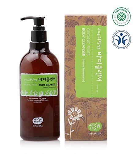 Whamisa Organic Fruits Body Cleanser 16 fl. oz., Nourishing and Moisturizing Body Wash - Naturally fermented, EWG Verified ()
