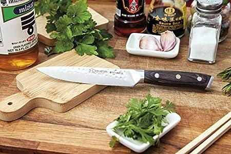"""3 Claveles Cuchillo de cocina profesional Kimura cuchillo cocina muy ligero menaje de cocina muy resistente de 13 cm-5"""" de hoja"""