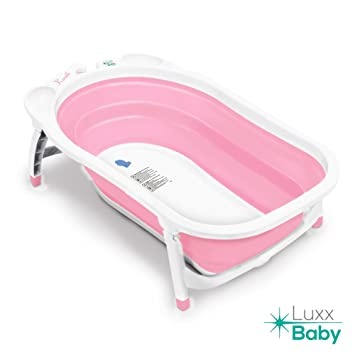 Amazon.com : Luxx Baby BF1 Folding Bath Tub by Karibu w/Non-Slip ...