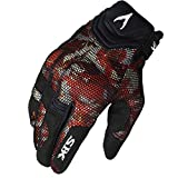 AINIYF Full Finger Motorcycle Gloves  Summer Men's Cavalier Breathable Drops Sports Gloves Cycling Locomotive Touch Screen Racing Fall (Color : Red, Size : L)