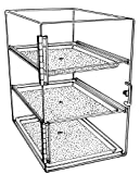 Acrylic Donut Bakery Pastry Display Case with 3 Trays