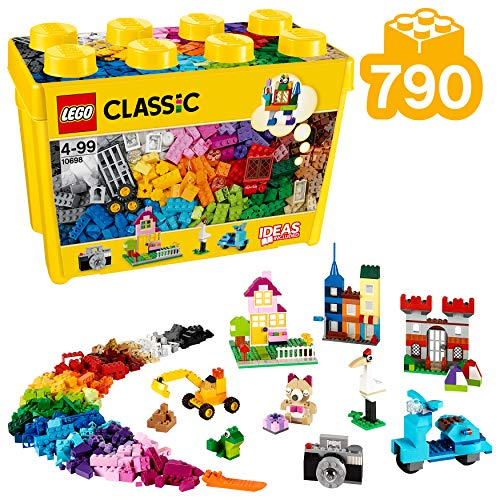 LEGO Classic – Caja de ladrillos creativos grande, Set de Construcción con ladrillos de colores, Juguete Creativo y…