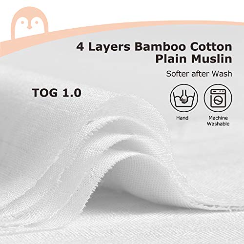Baby Wearable Blanket, Baby Sack for Sleep, Momcozy 2 in 1 High Density TOG 1.0 Bamboo Muslin Baby Sleeping Bag Super Soft with 2-Way Zipper, Long Time Extender Use Age, Outer Space Roam Blue