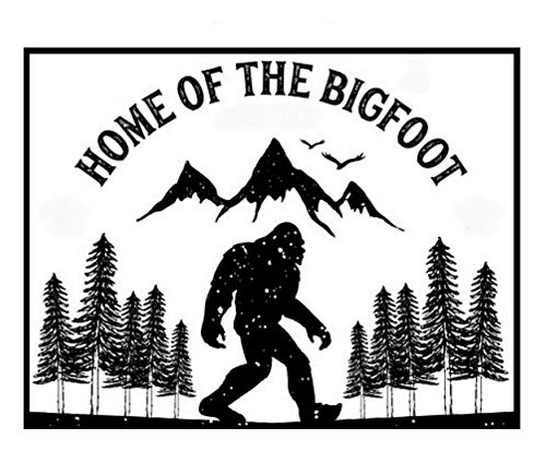 (Home of The Bigfoot Die Cut Auto Car Vinyl Decal Sticker X-Files Type UFO Saucer Aliens Science Fiction Humor Comics Comedy Horror Cryptids Creatures Monster Emblem Badge Application)