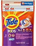 Tide Spring Meadow, 3 in 1 Detergent + Stain Remover + Color Safe Pods, 38 Capsules, With Child Guard Zipper