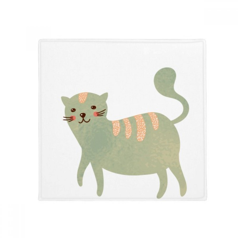 DIYthinker Cute Cyan Cat Animal Watercolor Anti-Slip Floor Pet Mat Square Home Kitchen Door 80Cm Gift