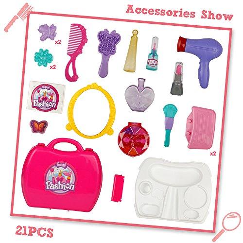 Pretend Play Makeup Vanity Set Little Girls Princess Fashion Toy 21