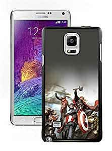 Avengers Characters Illustration Black Hottest Sell Customized Samsung Galaxy Note 4 Case