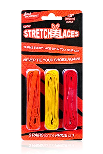 Ibungee Laces - Just Solutions! Stretch Laces - Yellow, Orange, Red
