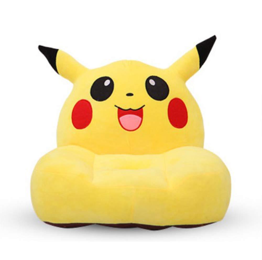 Pikachu Children Upholstered Sofa Chair Foam Comfy Chair