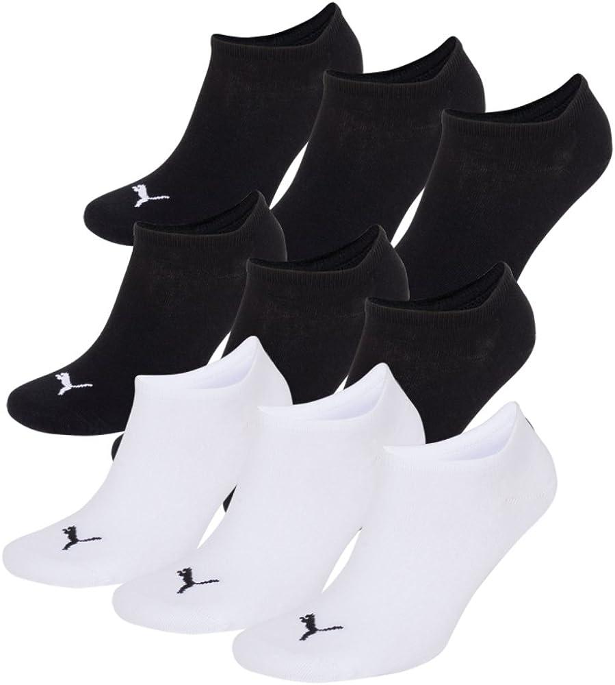 Puma color negro Calcetines invisibles 9 unidades