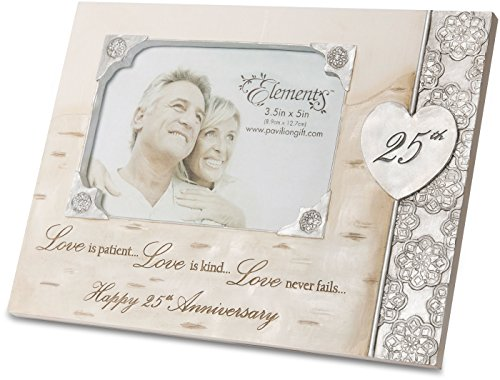 Elements Angels 82429 Picture Frame - Pewter Angel Photo Frame