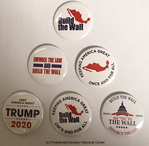 - Build the Wall Complete Set of 6 campaign buttons (WALL-ALL)
