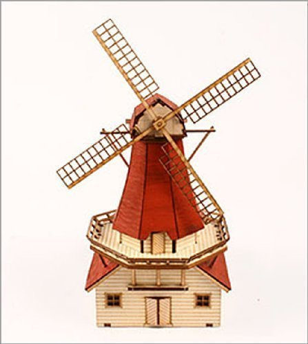 Desktop Wooden Model Kit Dutch windmill by Young Modeler (Windmill Wooden)