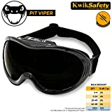 KwikSafety PIT VIPER ANSI Industrial (ANTI-FOG, ANTI-SCRATCH, Snug FIT) Welding Goggles | Flip Up Shade 5 | Ventilation Infrared Welding Torch Brazing Soldering Flame Cutting Gas Oxy-Acetylene Black