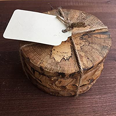 Handmade In The USA wooden coasters absorb moisture to protect you furniture from stains these rustic coasters add a touch of style and elegance to your home.