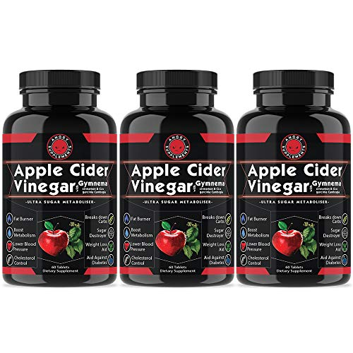 Angry Supplements Apple Cider Vinegar Pills for Weightloss [3 Pack] Natural Detox Remedy Includes Gymnema, Cinnamon, CLAS, and Garcinia for Complete Diet and Health – Best Starter Kit Or Gift. Review
