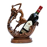 XUE Wine Rack Resin-European Home Creative Wine Tray Wine Cabinet Decoration Wine Display Rack Crafts Display Size 27x14x33cm