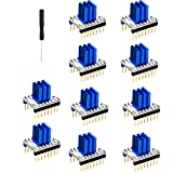 Fityle 10 Pieces of Single-axis Stepper Motor Driver with Aluminum Cooler Heatsink