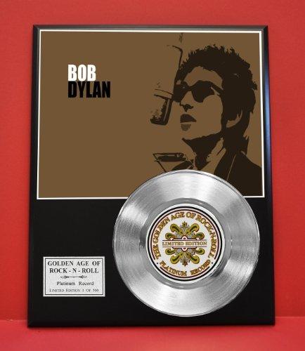 Bob Dylan Non Riaa LTD Edition Platinum Record Display - Award Quality Plaque - Music Memorabilia - Gold Record Outlet