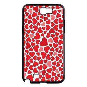 LZHCASE Diy Design Back Case Love Pink for Samsung Galaxy Note 2 N7100 [Pattern-1]