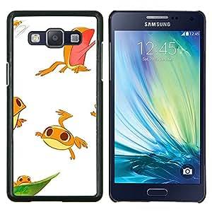 TECHCASE---Cubierta de la caja de protección para la piel dura ** Samsung Galaxy A5 ( A5000 ) 2014 Version ** --rana niños lindos blancos personaje divertido