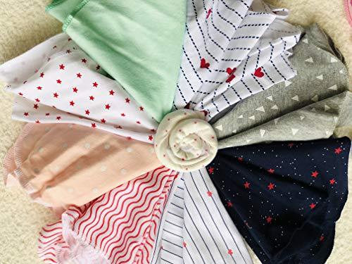 BabyButtons Cotton Washcloths Napkin Hankies Soft Cotton Face Towels Unisex Gift Pack