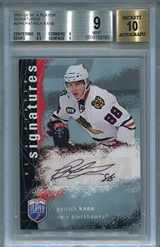 Upper Deck Certified Autograph Card - Patrick Kane Rookie Chicago Blackhawks BGS Certified Authentic Autograph - 2007 Upper Deck Be A Player (Autographed Hockey Cards)