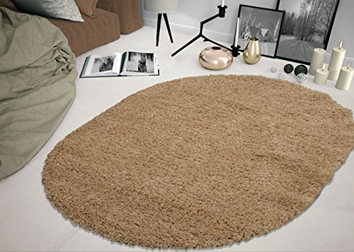Sweethome Stores COZY2769-Oval Shaggy Rug, 5'3