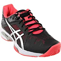 Asics Gel-Solution Speed 3 Clay Women's Tennis Shoes (Black)