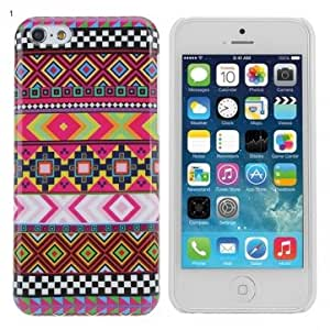 Colorful Tribe Pattern Protective Hard Back Case Cover For iPhone 5C @ Design==3