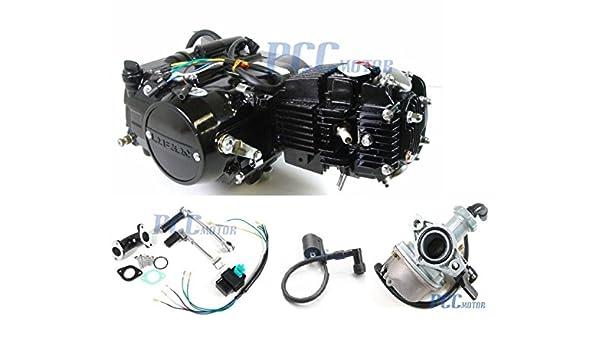 amazon com: 45l 4 up lifan 125cc manual motor engine carburetor cdi coil  pit bike en18-set: automotive