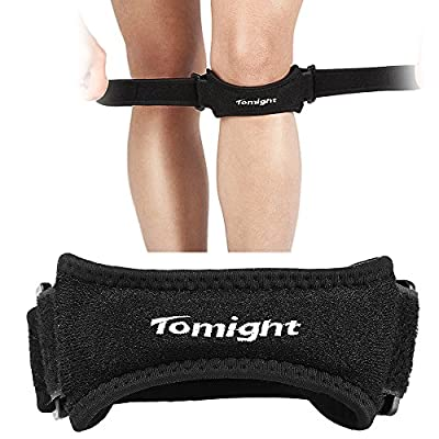 [2 Pack] Knee Strap, Tomight Knee Patellar Tendon Support Knee Brace to Relieve Knee Pain for Hiking, Soccer, Basketball, Volleyball & Squats?Updated Version?