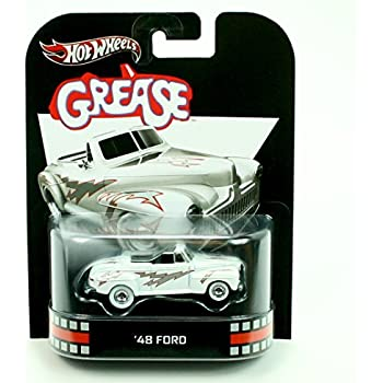 48 FORD * GREASE * Hot Wheels 2012 Retro Series Die Cast Vehicle