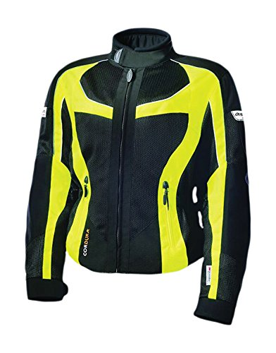 Olympia Moto Sports Women's Switchback 2 Mesh Tech Jacket (Black/Neon Yellow, Small)