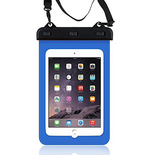 Mocolo Universal Waterproof Case Carrying Bag Case Pouch for Tablet Water Proof Dustproof Snowproof Cases for iPad Mini Galaxy Tab S Amazon Fire HD 7
