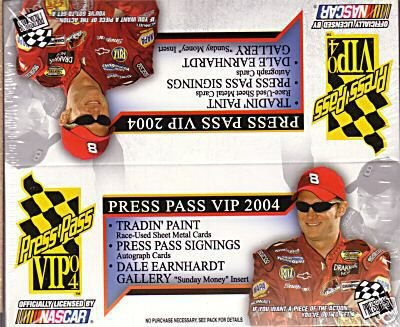 2004 Press Pass VIP Racing HOBBY Pack (5 Cards/Pack) - NASCAR Trading Cards! ()
