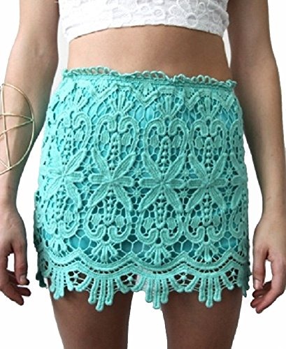 Sydney Lace Mini Skirt M Mint Passion - Night Out Fashion Sydney
