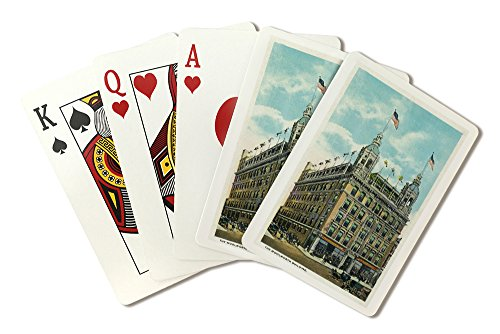lancaster-pennsylvania-exterior-view-of-the-woolworth-building-playing-card-deck-52-card-poker-size-