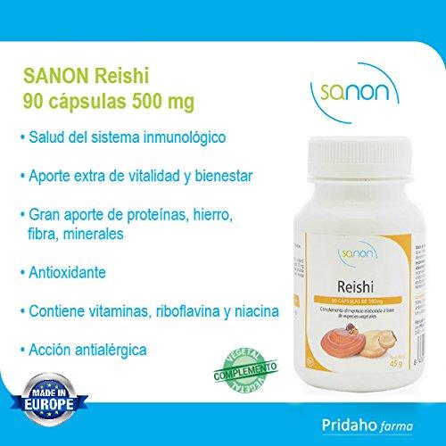 SANON - SANON Reishi 90 cápsulas 500 mg: Amazon.es: Salud y cuidado personal