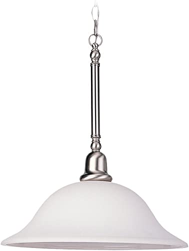 Sea Gull Lighting 69561BLE-962 3-Light Sussex Pendant, Brushed Nickel Finish with Satin Etched Glass