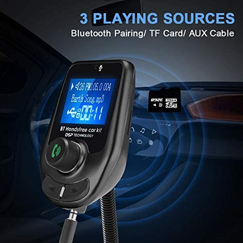 Car Bluetooth FM Transmitter MP3 Player Radio Hands Free Adapter Kit USB Charger