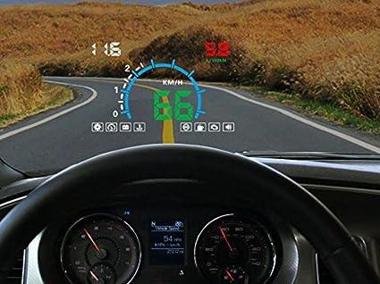 LUNYI12V Digital Auto HUD OBD Head Up Display KM / H MPH ...