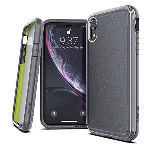 X-Doria Defense Ultra Series, iPhone XR Case - Heavy Duty Protective Case with Anodized Aluminum Frame, Military Grade Drop Tested Case for Apple iPhone XR, 6.1 LCD Screen (Gray)