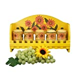 Sunflower Garden Hand-painted Sunflower Spice Rack